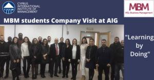 MBM company visit at AIG