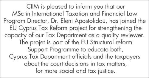 EU Cyprus Tax Reform Project